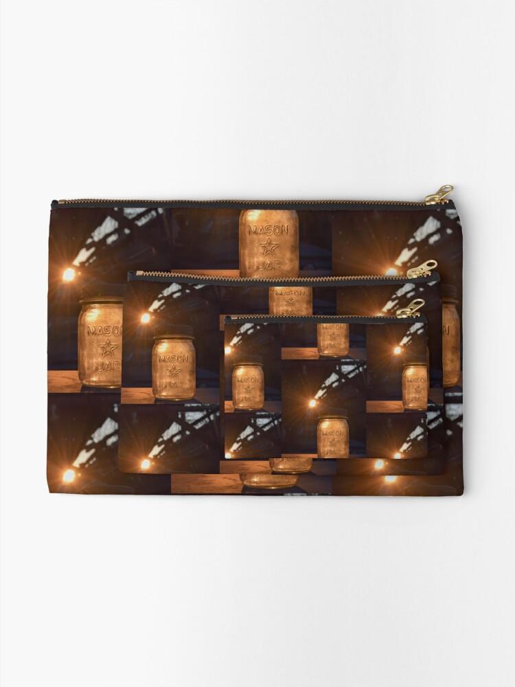 Alternative Ansicht von glühendes Einmachglas Täschchen