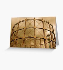 Gas Tower Greeting Card