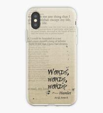 Hamlet: Words, Words, Words iPhone Case