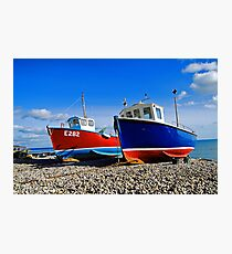 Fishing boats at beer Photographic Print