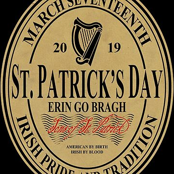 St. Patrick's Day - oval label by ianscott76