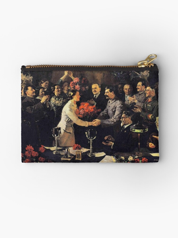 A political poster, the Soviet Union, Stalin, the leadership of the Soviet Union, the people, applause by znamenski