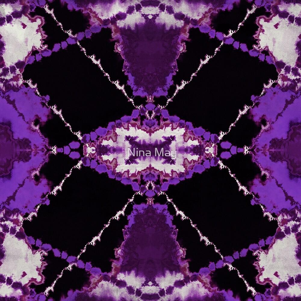 Tribal Tie-Dye Purple by Nina May