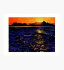 Sunset, Enniscrone (County Sligo, Ireland) Art Print