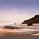 Rushing Waves Cornwall by Daveart