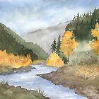 Wenatchee River, WA by Diane Hall