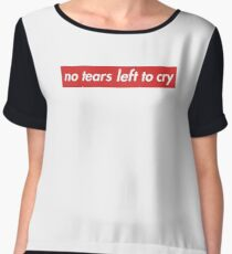 no tears left to cry - supreme logo style Chiffon Top