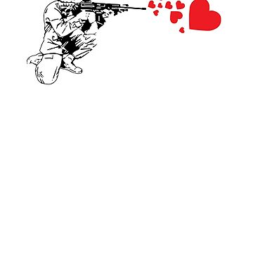 Military Rifle Shooting Out Hearts by perfectpresents