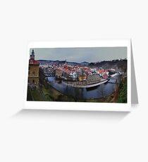 Cesky Krumlov panorama Greeting Card
