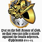 Bible - Put On The Full Armor Of God - Religion Worship Scripture by stuch75