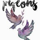 Funny Pigeon - Pigeons Make Me Happy - Flying Birds Wings Feathers Humor by stuch75