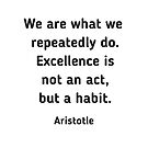 Excellence is a habit - Aristotle Quote by IdeasForArtists