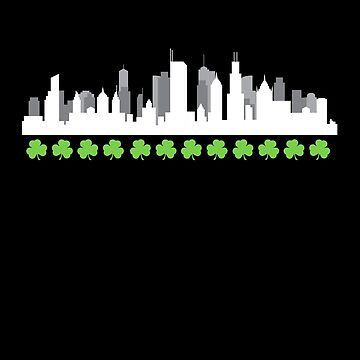 Funny St. Patricks Day Irish Beer Shamrock Gift Ireland Irish Skyline by zot717
