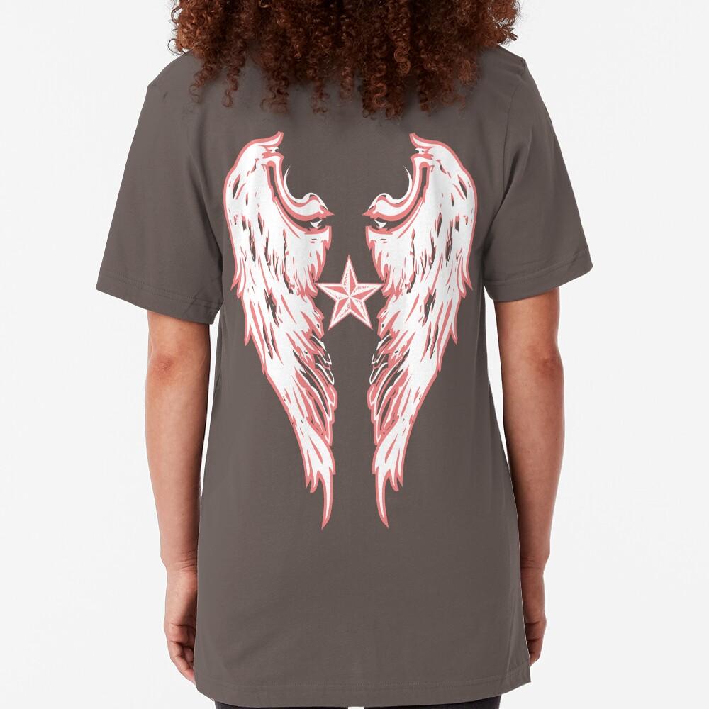 Angel Wings Wht Slim Fit T-Shirt