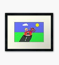 Cow driver Framed Print