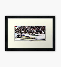 zMax Drag Strip 4 wide Framed Print