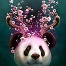 PANDA HORNS UP by MEDIACORPSE