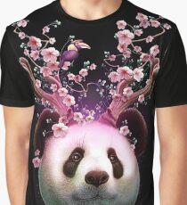 Camiseta gráfica PANDA HORNS UP