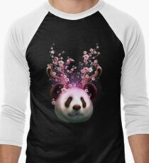 Camiseta ¾ bicolor para hombre PANDA HORNS UP