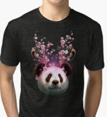 PANDA HORNS UP Tri-blend T-Shirt