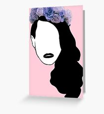 Lana Del Rey - Simplistic - Lips Greeting Card