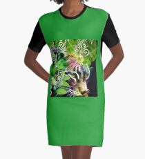 psychedelic  tiger jaguar  Graphic T-Shirt Dress