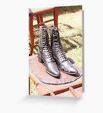 Women's hightop shoes, circa 1850 Greeting Card