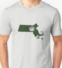 Marijuana Leaf Massachusetts Unisex T-Shirt
