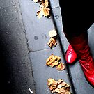 a ruby click for an autumn road by Eranthos Beretta