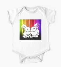 Love is Love Rabbits One Piece - Short Sleeve