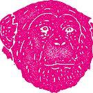 Pink Monkey Retro Face by Chocodole