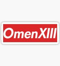 OmenXIII, omen, xiii Sticker