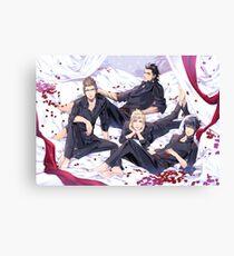 Chocobros with rose petals Canvas Print