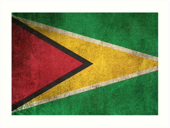 Old and Worn Distressed Vintage Flag of Guyana by jeff bartels