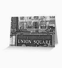 Union Square Greeting Card