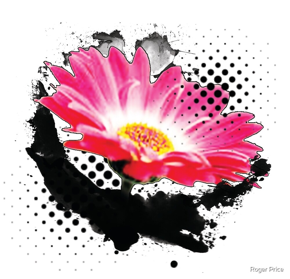 Abstract Flower Pop Art by Roger Price