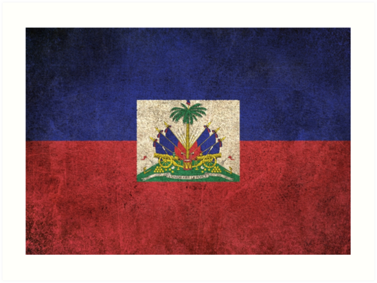 Old and Worn Distressed Vintage Flag of Haiti by jeff bartels