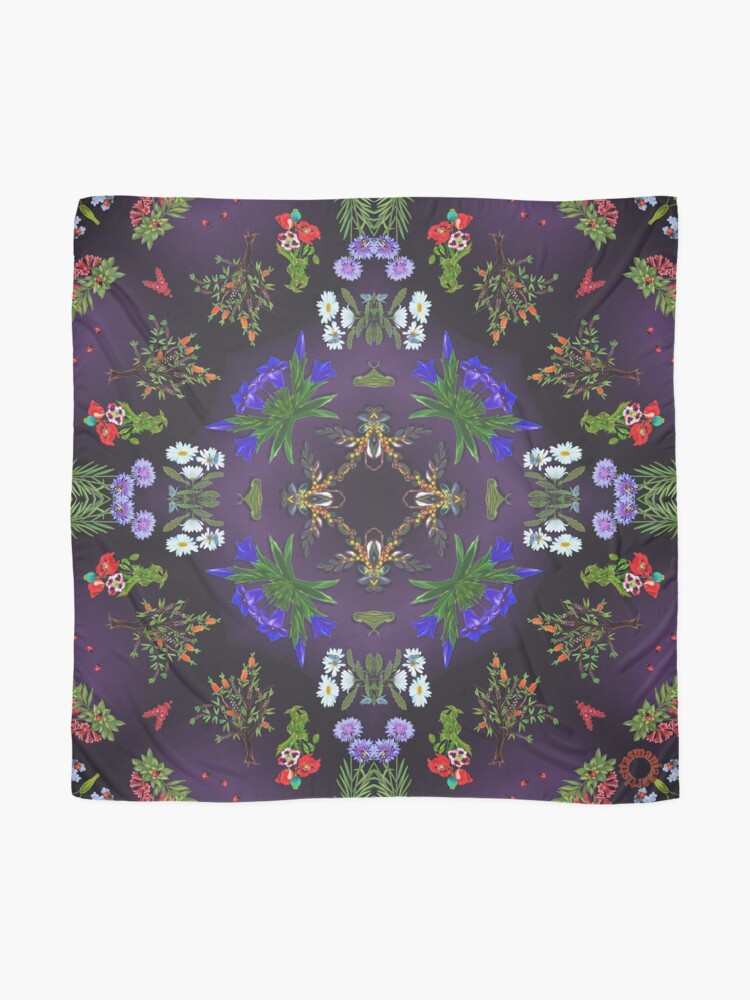 Alternate view of D1G1TAL-M00DZ ~ FLORAL ~ Ladybird 2 by tasmanianartist 160219 Scarf