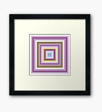 HIP TO BE SQUARE - PLUM Framed Print