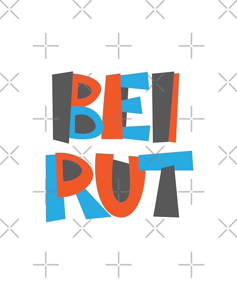 Beirut Hand Drawn Text T-Shirt by designkitsch