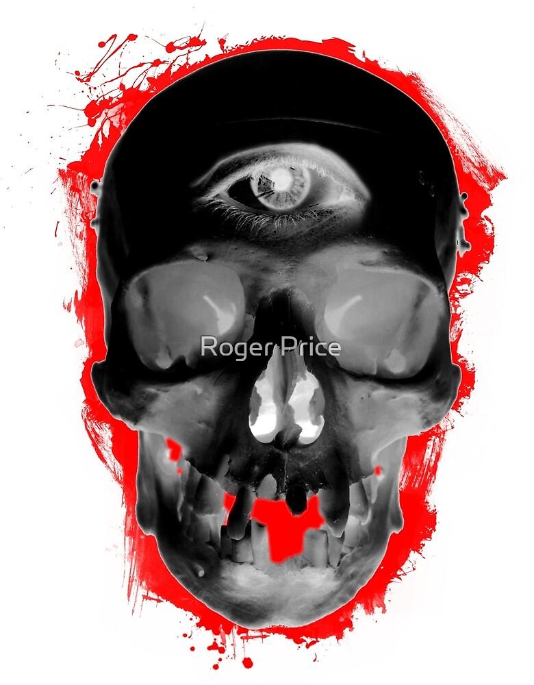 Inverted Digital Art Illuminati Skull by Roger Price