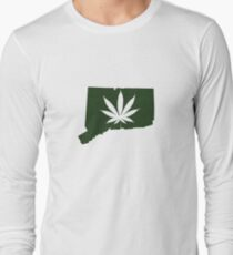 Marijuana Leaf Connecticut Long Sleeve T-Shirt