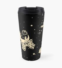Moonlight Circus - Repeating Print - Black Travel Mug
