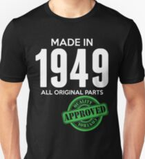 Made In 1949 All Original Parts - Quality Control Approved Slim Fit T-Shirt