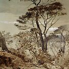Stone Pines at Sestri-John Ruskin by LexBauer