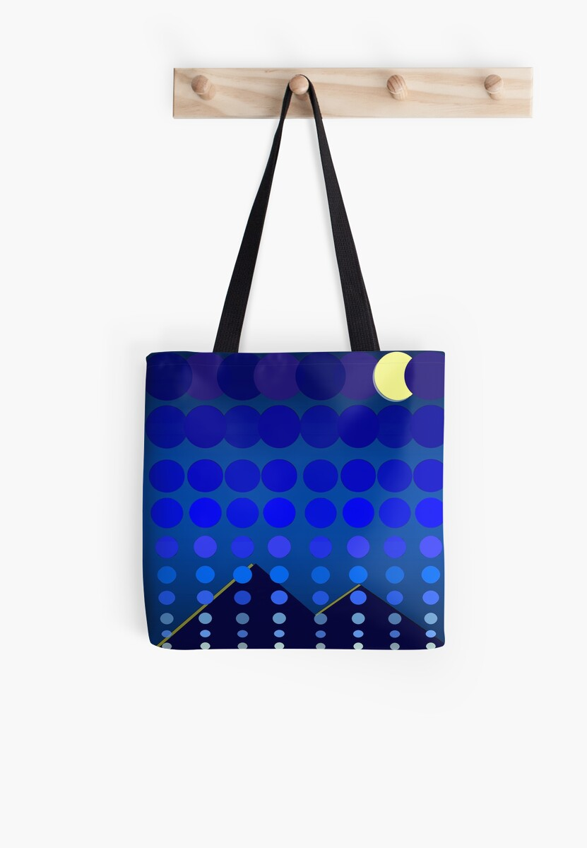 Polka Dot Madness-Nightfall Blue by lifecycleprints