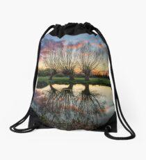 Autumn on the River Stour Drawstring Bag