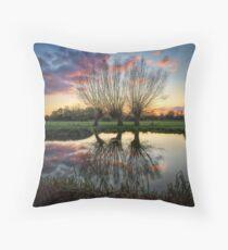 Autumn on the River Stour Throw Pillow