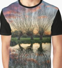 Autumn on the River Stour Graphic T-Shirt