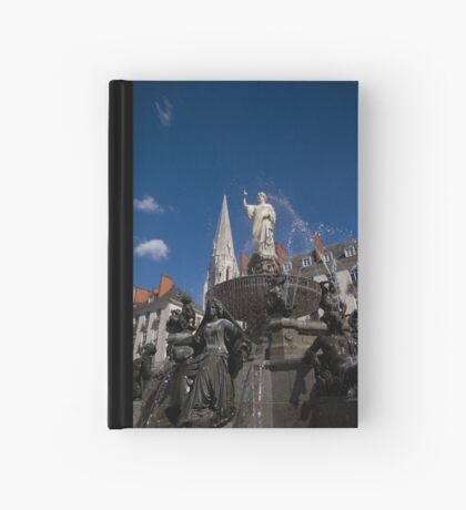 Fountain on Place Royale Hardcover Journal